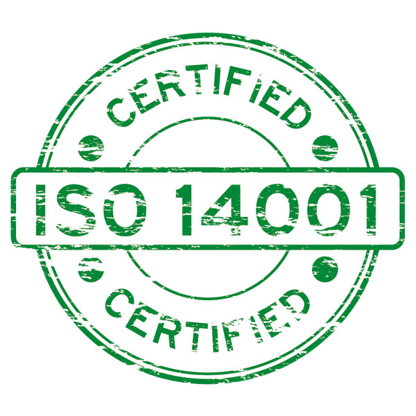 We are on the point of being ISO 14001 certified.